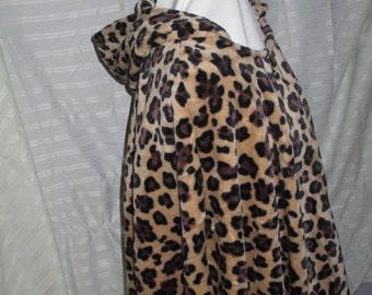 Plush Leopard Poncho
