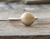 Disc Shaped Ring in 14K Yellow Gold