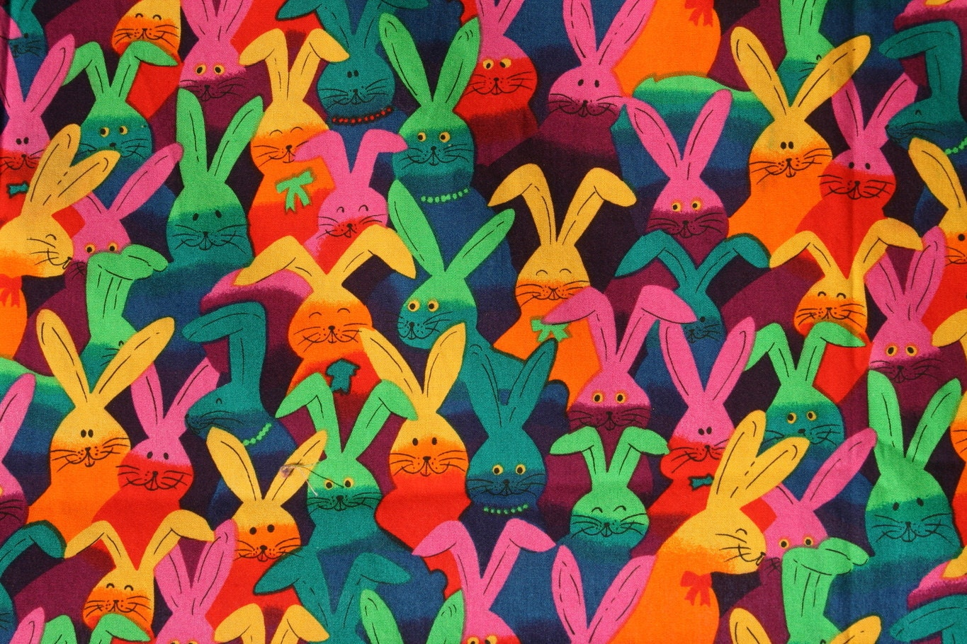 Vintage easter bunny rabbit cotton fabric kids novelty for Novelty children s fabric