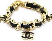 SALE-Black CC charm bracelet