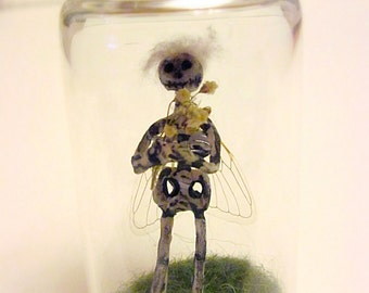 Fairy In A Bottle -Mika (Made with Real Cicada Wings)