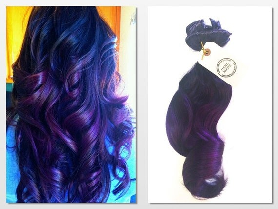 Items Similar To Purple Rain Ombre Hair Extensions, Deep