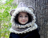 Crochet Bear hat. Made to order.