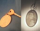 Lithophane round keychain/pendant custom 3D printed