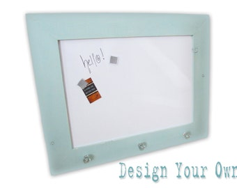 Design Your Own Marker Board - White Board - Magnetic - Custom - Handmade Frame - Distressed - 22x28 Overall