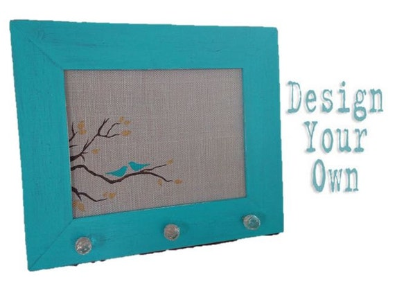 Medium burlap cork board bird and branch by studioonseventeen for Design your own cork board