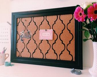 Items Similar To Bulletin Memo Cork Board Frame With Key