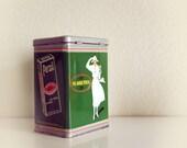 Vintage metal German tin Persil metal box 90s years