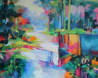 Bunya Riverside - oil painting on canvas 1015mm x 1015mm