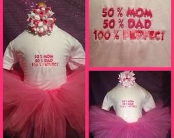 100% perfect tutu set with embroidered shirt can be made in any color