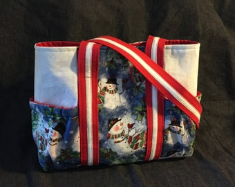 Snowman Handbag/Tote