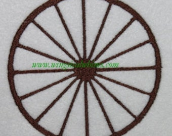 Wagon Wheel Digitized Machine Embroidery Design Country