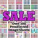 Sale D - 1 inch Circles - Instant Download Bottle Cap Image Sheet  (includes OVER 100 PRE-Selected image sheets shown)