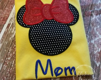 Girl Mouse Custom embroidered Disney Inspired Vacation Shirts for the Family! 782