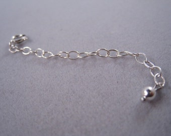 ADD ON Necklace Extender, Sterling Silver necklace extender, Sterling silver extender, extender with clasp