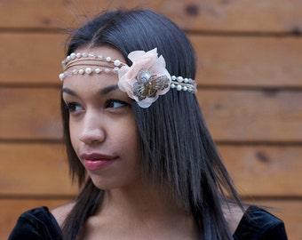 Pearl Gatsby Headdress, Vintage 1920s Headband