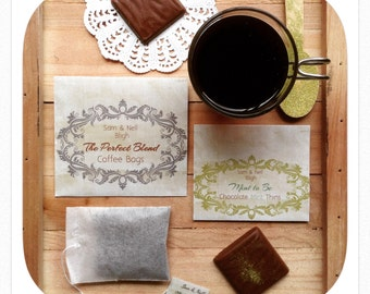 COFFEE FAVOR or CHOC Mint thin Favor Wedding Bridal High Tea