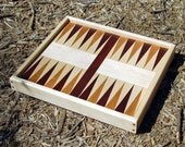 Handcrafted Backgammon Board, Solid Hardwood, Gift for Men, Wedding Gift, Groomsman, Fathers Day, Anniversary gift, Gift for Him
