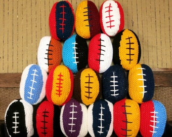 AFL Baby Toy Ball, Baby Shower Gift, AFL Footballs, Baby Boy, Baby Girl, Plush Baby Ball, Knitted Toy For Baby Handmade Melbourne Australia