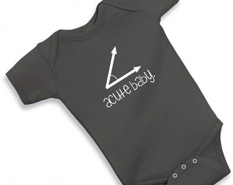 ACUTE BABY one piece cute funny adorable bodysuit baby shower boy girl math geek nerdy nerd