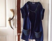 Womens Cotton & Denim Vest.Free size.made to Order.