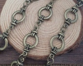 1m  antique bronze Chain 13mm wide