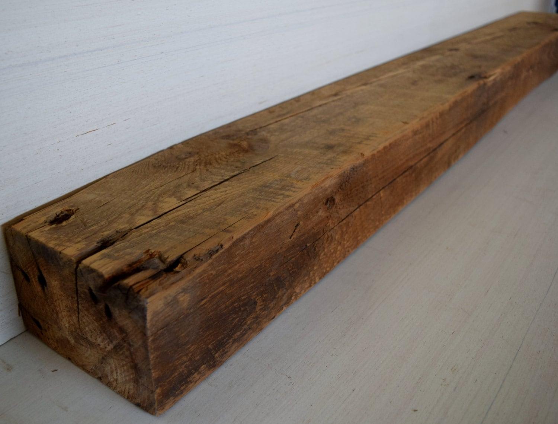 Reclaimed Barn Beam Wood Fireplace Mantel Shelf Antique