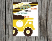 Pack of 10 Construction Invitations