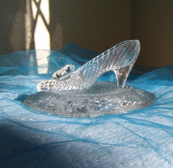 Cinderella glass slipper wedding centerpiece by antoniasbazaar
