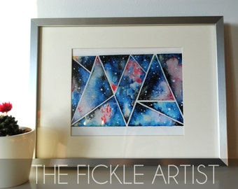 Geometric Nebula Print