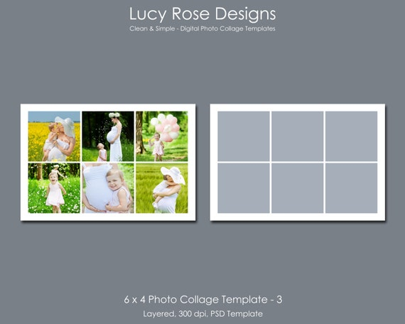 4 picture collage template 6 x 4 photo collage template 3