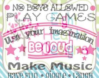 Girls Rules SVG