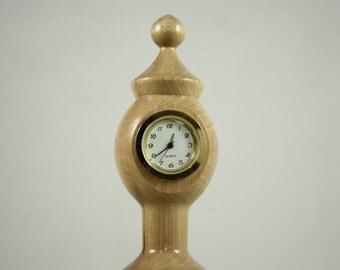 Elegant Small Wooden Clock in Dogwood