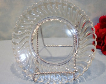 Fostoria Colony Crystal Depression Glass Salad Plate