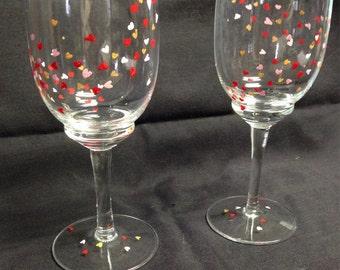 Valentine's Wine Glasses