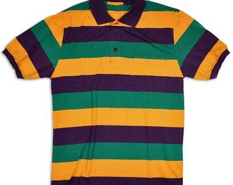 Mardi Gras Short Sleeve Polo Shirt