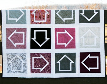 """Which Way is Up? 8"""" Quilt Block - Paper Pieced PATTERN - PDF"""