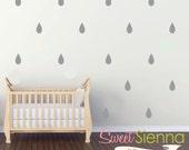 Raindrop wall decals, Raindrop decal, Raindrop wall sticker, wall decals, wall stickers, vinyl wall decal stickers  x 40