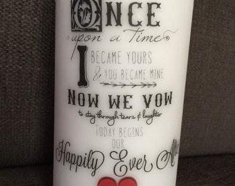 Fairy Tale Wedding Unity Candle