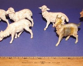 Italian Depose Goat, Dog & Sheep Nativity Animals