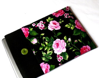 """iPad Pro 10.5 Sleeve, iPad PRO 9.7"""" Case, iPad Air Cover, Tablet Case for Galaxy, Kindle -SUPERIOR Shock Absorbent Foam Padding - Pink Roses"""