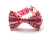 Bow Tie - Pink and Red Hearts Bowtie