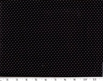 1 Yard, VIP Small Gray Dots on Black