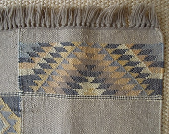 SALE - A Vintage Handwoven Kilim Wool Rug