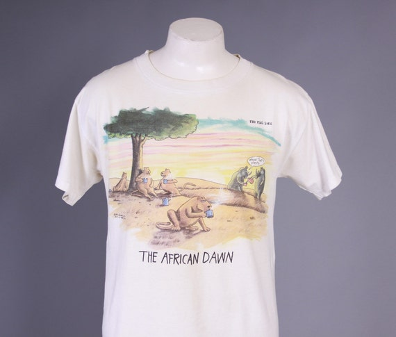 80s The Far Side T Shirt 1980s The African By