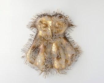 Metal wall art - OWL - Home decor - Contemporary  art -  wire mesh sculpture - Metal wall hanging