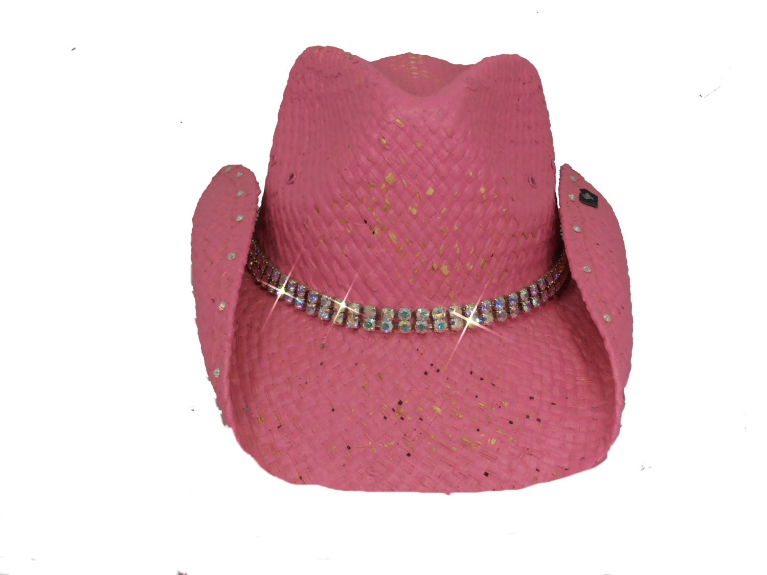 pink womens bling cowboy hat by timetwochange on etsy
