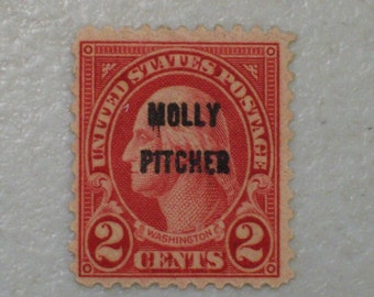 1928 US Postage Stamp, Scott 646, Battle of Monmouth, Molly Pitcher Overprint, MH, mint