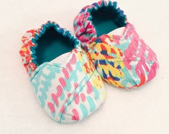 """Lilly Pulitzer """"Electric Feel"""" Fabric Toms-Inspired Shoes - Choose a size"""