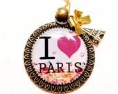 Eiffel tower necklace-paris lover gift-paris inspired
